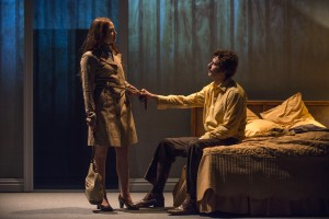 Carrie Coon (Mary Page Marlowe) and Gary Wilmes (Dan) in Steppenwolf Theatre Company's production of Mary Page Marlowe, a world premiere written by ensemble member Tracy Letts and directed by artistic director Anna D. Shapiro.