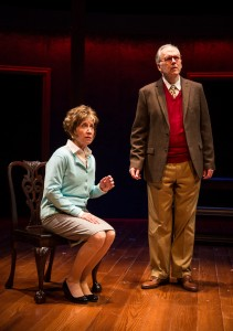 Maureen Gallagher and Patrick Clear in Carlyle by Thomas Bradshaw, directed by Benjamin Kamine at Goodman Theatre.
