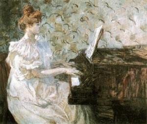 Misia by Henri de Toulouse-Lautrec, 1897