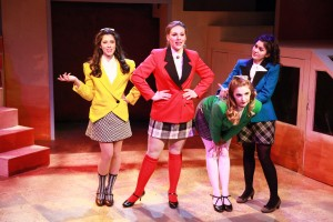 Rochelle Therrien, Jacquelyne Jones, Haley Jane Schafer and Courtney Mack Kokandy Productions' Chicago premiere of HEATHERS: THE MUSICAL by Kevin Murphy and Laurence O'Keefe, directed by James Beaudry, with music direction by Kory Danielson. Photo by Emily Schwartz.