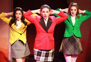 Rochelle Therrien, Jacquelyne Jones and Haley Jane Schafer in Kokandy Productions' Chicago premiere of HEATHERS: THE MUSICAL by Kevin Murphy and Laurence O'Keefe, directed by James Beaudry, with music direction by Kory Danielson. Photo by Emily Schwartz.