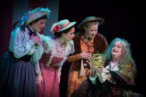 Sarah Powell, Janelle Lutz and Jenny Tucker in The Golden Apple at Lyric Stage