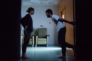 Susannah Flood and Carter Hudson in THE EFFECT (photo by Matthew Murphy)