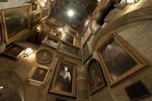 Hall of moving portraits, some of which will interact with guests.