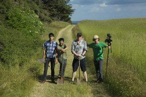 Josh Evans, Roberto Flore, Ben Reade and Andreas Johnsen in BUGS. Photo by Andreas Johnsen.