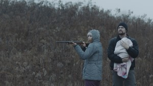 Lucy Walters as Ann and Shane West as Jason in HERE ALONE. Cinematographer Adam McDaid.