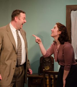 Scott Danielson and Kat McDonnell in Strawdog's ONCE IN A LIFETIME. Photo by Tom McGrath.