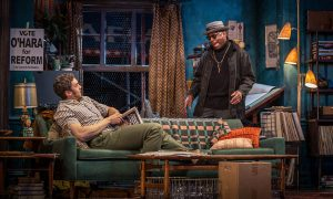 Travis Knight (Alton) and Phillip Edward Van Lear (Max) in The Sign in Sidney Brustein's Window by Lorraine Hansberry, directed by Anne Kauffman