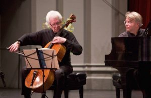 Cellist Laurence Lesser and pianist Kevin Fitz-Gerald. (Photo by Daniel Anderson-USC)