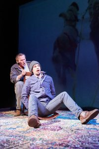 Don Bender and Ryan Hallahan in THE BODY OF AN AMERICAN by Dan O'Brien. Photo by Ian McLaren.