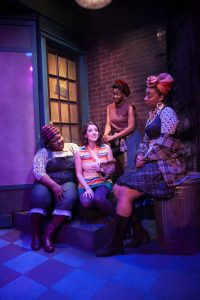 Jasondra Johnson, Ensemble Member Dara Cameron, Eunice Woods, Camille Robinson. Photo by Johnny Knight