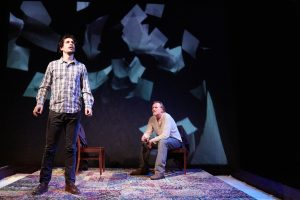 Ryan Hallahan and Don Bender in THE BODY OF AN AMERICAN by Dan O'Brien - Photo by Ian McLaren