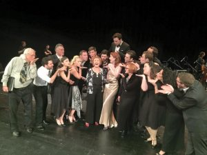 The cast of On the Twentieth Century