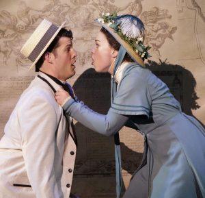 William Dwyer as Freddy Eynsford-Hill and Elizabeth Telford as Eliza.
