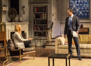Emily Swallow and Hari Dhillon in Ayad Akhtar's DISGRACED at Mark Taper Forum.