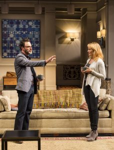 J Anthony Crane and Emily Swallow in Ayad Akhtar's DISGRACED at Mark Taper Forum.