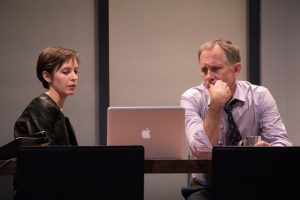 Jocelyn Kuritsky and Bruce McKenzie in Stet. (Photo by Ben Strothmann)