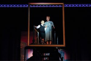 Nancy Hays (Mame Dennis) and Zachary Scott Fewkes (Young Patrick Dennis) in Light Opera Works' Mame August 20-28, 2016- at Cahn Auditorium in Evanston, IL.