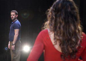 Ben Green and Tatiana Alvarez in A CHORUS LINE, Chance Theater.