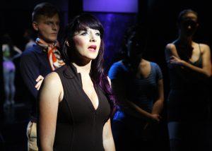 Ben Heustess, Camryn Zelinger, Ashley Arlene Nelson and Dannielle Green in A CHORUS LINE, Chance Theater.