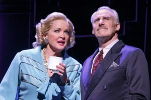 Christine Ebersole (Elizabeth Arden) and John Dossett (Tommy Lewis) in War Paint, a world premiere musical by Doug Wright, Scott Frankel and Michael Korie. Photo by Joan Marcus