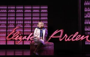 """Christine Ebersole (Elizabeth Arden) sings """"Pink"""" in War Paint, a world premiere musical by Doug Wright, Scott Frankel and Michael Korie. Photo by Joan Marcus"""