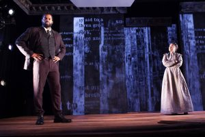 De'Lon Grant and Kristin E. Ellis in the american vicarious' world premiere of DOUGLASS by Thomas Klingenstein, directed by Christopher McElroen. Photo by Evan Barr.