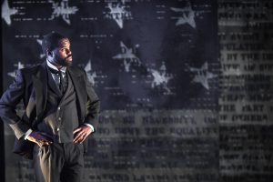 De'Lon Grant in the american vicarious' world premiere of DOUGLASS by Thomas Klingenstein, directed by Christopher McElroen. Photo by Evan Barr