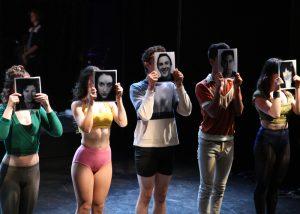 Emily Abeles, Victora Rafael, Brandon Carter, Xavier Castaneda, Angeline Mirenda in A CHORUS LINE, Chance Theater.