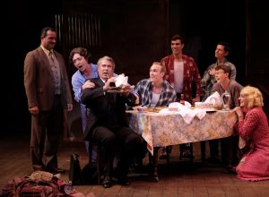 Manny Fernandes, Linda Libby, David Kirk Grant, Danny Hansen, Max Cadillac, Hanz Enyeart, Dallas Perry, Katie Whalley Banville in GYPSY. Photo by Ken Jacques.