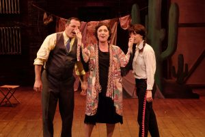 Linda Libby, Manny Fernandes, and Allison Spratt Pearce in GYPSY. Photo by Ken Jacques.