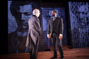 Mark Ulrich and De'Lon Grant in the american vicarious' world premiere of DOUGLASS by Thomas Klingenstein, directed by Christopher McElroen. Photo by Evan Barr.