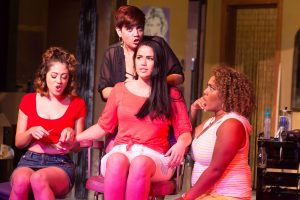 "Michelle Lauto, Missy Aguilar, Lucia Godinez and Leah Davis as ""Vanessa,"" ""Daniela,"" ""Nina Rosario,"" and ""Carla"""