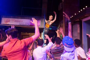 "Frankie Leo Bennett as ""Sonny"" performs ""96,000"" with the cast of In The Heights"