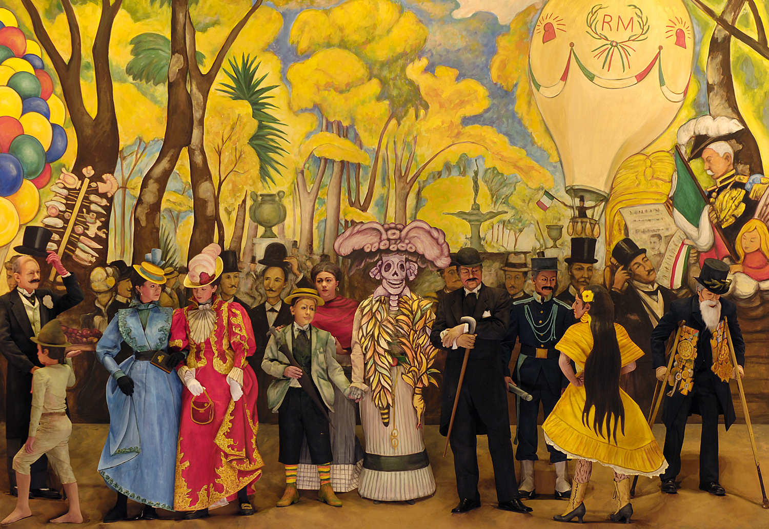 Theater preview partners pageant of the masters in for Diego rivera creation mural