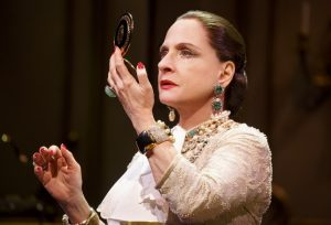 Patti LuPone (Helena Rubinstein) in War Paint, a world premiere musical by Doug Wright, Scott Frankel and Michael Korie. Photo by Joan Marcus