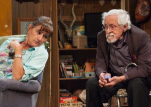 Janet Ulrich Brooks & Mike Nussbaum in Bakersfield Mist at TimeLine Theatre.