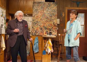 Mike Nussbaum & Janet Ulrich Brooks in Bakersfield Mist at TimeLine Theatre.