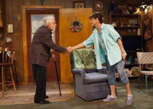 Mike Nussbaum and Janet Ulrich Brooks in Bakersfield Mist at TimeLine Theatre.
