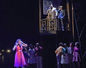 """KRYSTLE SIMMONS as Felicia and the COMPANY Musical Theatre West's Production of """"Memphis."""""""