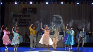 "KRYSTLE SIMMONS as Felicia and the COMPANY Musical Theatre West's Production of ""Memphis."""