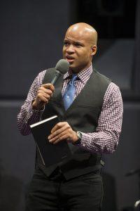 Glenn Davis (Associate Pastor Joshua) in Steppenwolf's production of The Christians