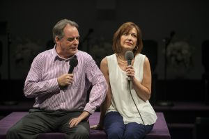 Tom Irwin (Pastor Paul) and Shannon Cochran (Elizabeth) in Steppenwolf's production of The Christians,
