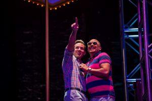 Ryan Belongie (Lysander) and Darryl Taylor (Herman)
