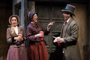 sarah-dellamico-katie-caussin-and-joe-dempsey-in-the-second-citys-twist-your-dickens-at-goodman-theatre
