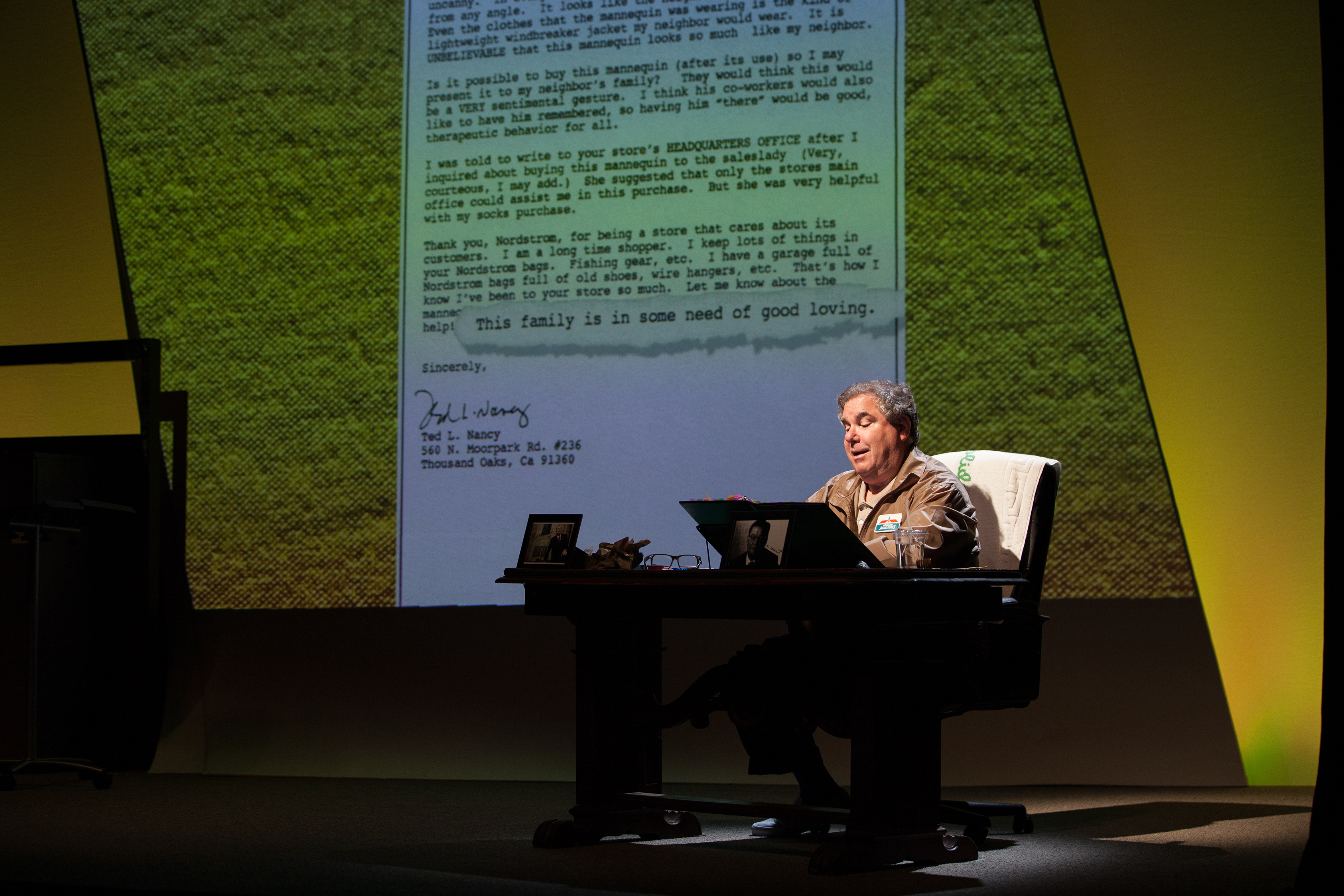 Theater Review Letters From A Nut By Ted L Nancy Geffen Playhouse