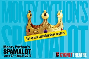 Post image for San Diego Theater Review: SPAMALOT (Cygnet Theatre)