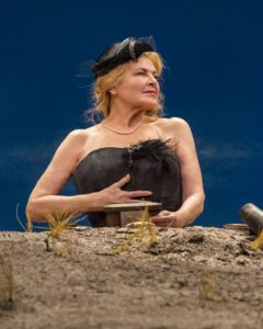 "Dianne Wiest in the Yale Repertory Theatre production of Samuel Beckett's ""Happy Days"" at the Mark Taper Forum. Directed by James Bundy, ""Happy Days"" will play at the Taper through June 30, 2019. For tickets and information, please visit CenterTheatreGrou"