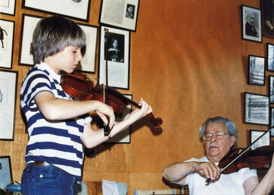 A Young Joshua Bell with Josef Gingold