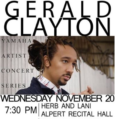 Post image for Jazz Preview: GERALD CLAYTON (Solo Piano at LACC)